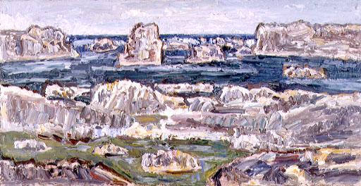 ▲水溜りと海 1954(昭和29)年