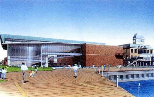大和ミュージアム外観、右隣の洋館はターミナルビル