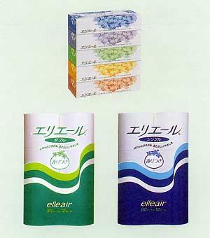 日本一のシェアを誇る「エリエールティシュー」 「エリエールトイレットペーパー」
