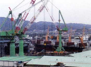 活況を呈する造船業