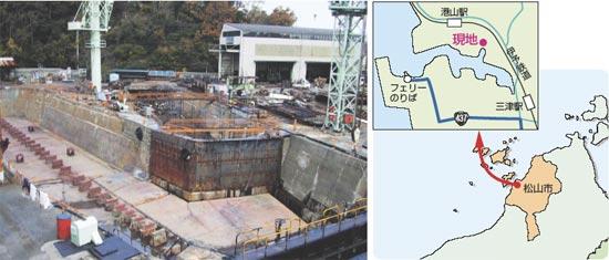 石崎船渠造船所(現角田造船所第二工場ドック) 地図