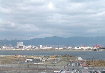 展望デッキから見た神戸市街の眺望