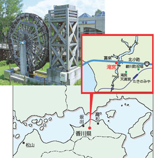 道の駅「滝宮」・地図
