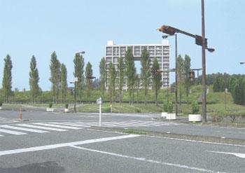 播磨科学公園都市の「テクノ中央」付近(建物は賃貸住宅)