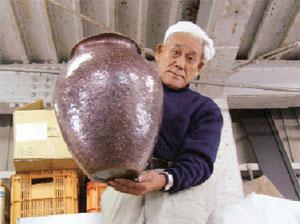 久保さん作 銅板製のつぼ