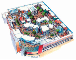 キッザニア甲子園鳥瞰図 資料提供:キッズシティジャパン