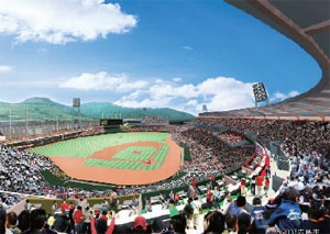 新球場観客席イメージ(広島市提供)
