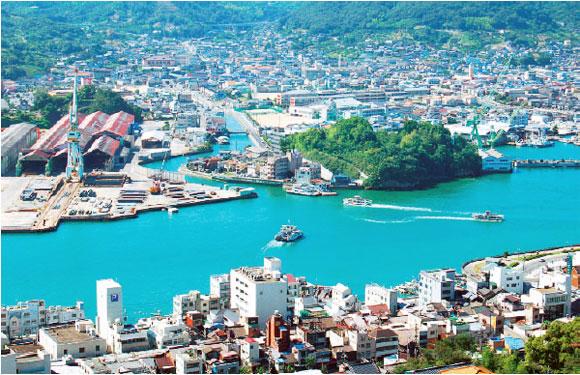 千光寺山から見た尾道市