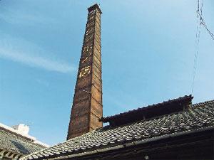 画像:高さ23メートルの煙突