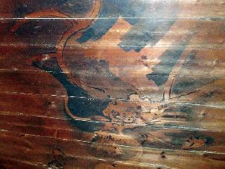 画像:「上の間」の天井に描かれた龍