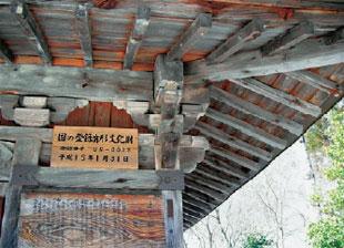 画像:屋根を支える組物