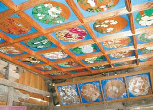 画像:格天井の絵