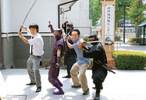 姫路城周辺で行われる忍者教室