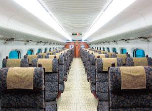 800系新幹線車内