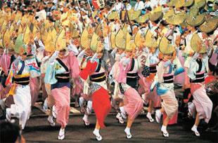 画像:徳島の夏を彩る阿波おどり
