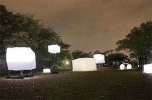 画像:山頂広場は今年4月に徳島LEDアートフェスティバル2013HOPの会場となった (徳島LEDアートフェスティバル実行委員会提供)