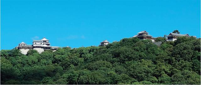 画像:松山城を望む