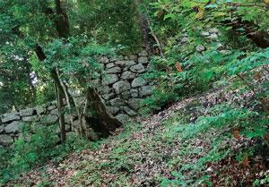 画像:南登り石垣の一部