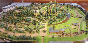 画像:湯築城全体模型