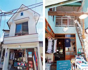 北村洋品店の外観と店内