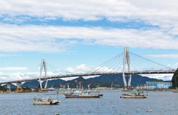 画像:弓削大橋