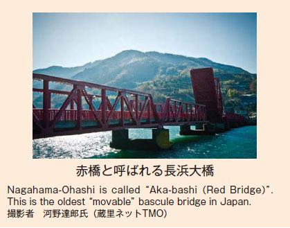 赤橋と呼ばれる長浜大橋
