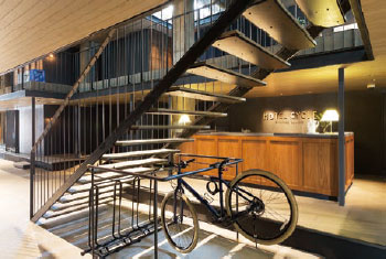 ONOMICHI U2「HOTEL CYCLE」 エントランス