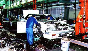 使用済み自動車リサイクル工場 (北九州エコタウン事業パンフレットより)