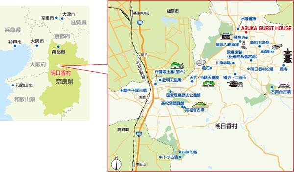 ※マップ情報提供:国営飛鳥歴史公園