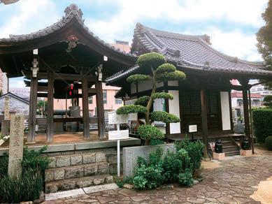 松山で最初に開設されたロシア兵捕虜収容所の大林寺 敷地内案内板の写真から当時の様子を見ることができる